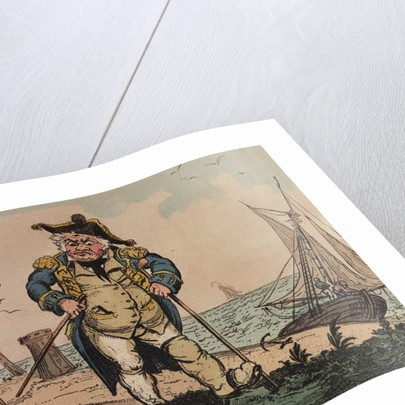 View of an admiral on crutches by George Cruikshank