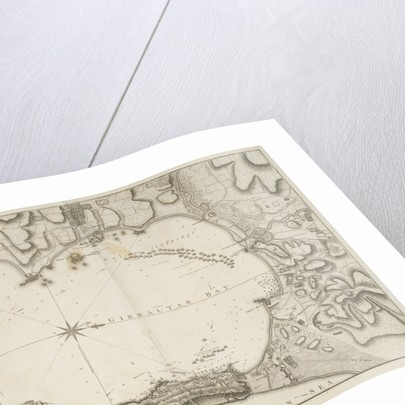 Plan of the bay, rock and town of Gibraltar by William Faden