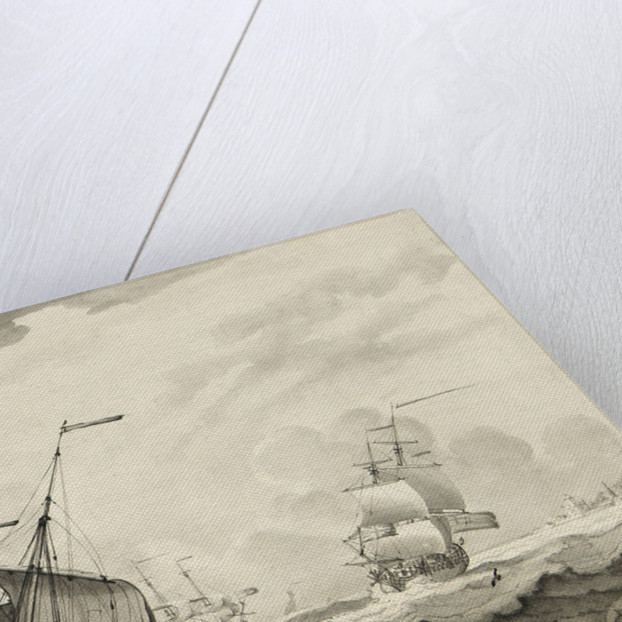 A lugger close-hauled in a strong breeze by Francis Swaine