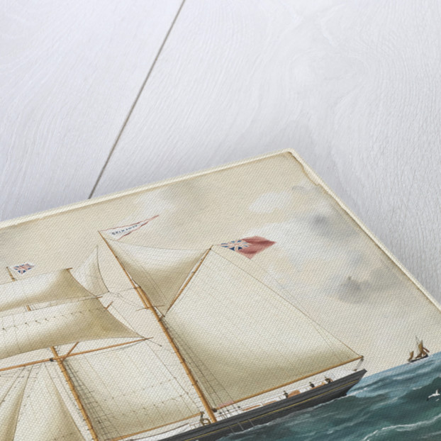 Spin Away of Fowey at sea by Reuben Chappell