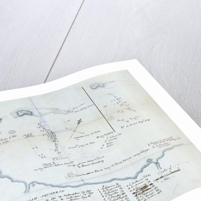 The Battle of the Nile, 1 August 1798. Chart of Aboukir Bay and of the action by Nicholas Pocock