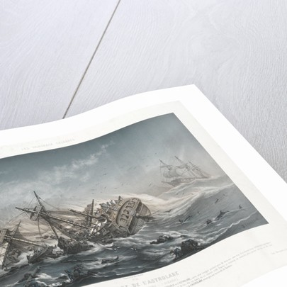 Shipwreck of the 'Astrolabe' on the reefs of the Island of Vanikoro by Louis Le Breton