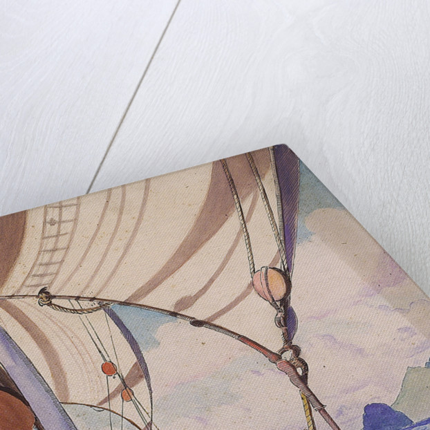 Details of rigging on the Kylemore with island (1) by John Everett