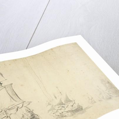 The 'Huis te Zwieten' and other ships becalmed by Willem van de Velde the Elder