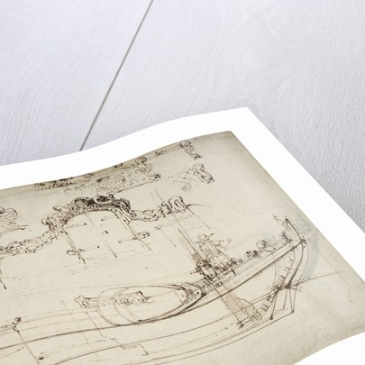 Sketch sheer plan by Willem Van de Velde the Younger