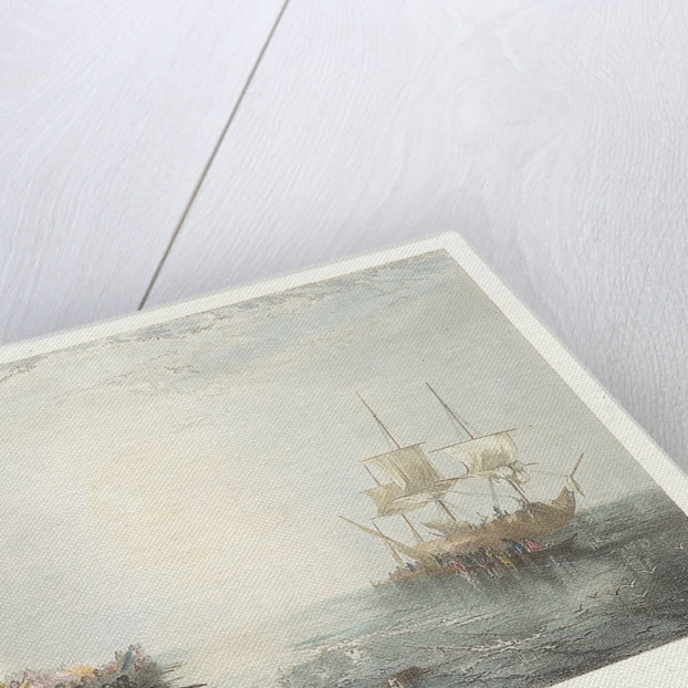 Whalers. From the picture in the National Gallery by Joseph Mallord William Turner