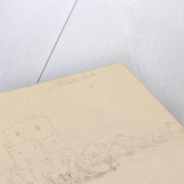 Drawing of Porchester Castle by John Christian Schetky