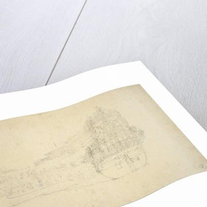 Portrait of the 'Vlissingen'? by Willem van de Velde the Elder