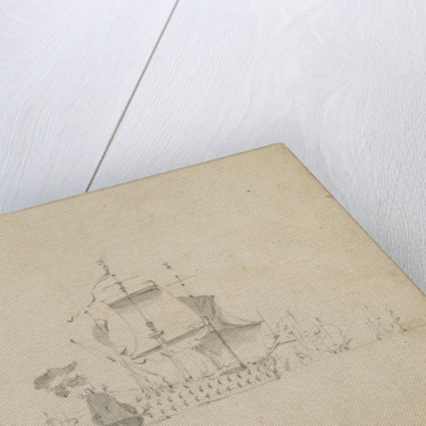 The Dutch fleet lying-by off Buchan Ness, 16-26 August 1665 by Willem van de Velde the Elder