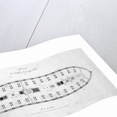 Plan of the lower deck of the 'Centaur' by unknown