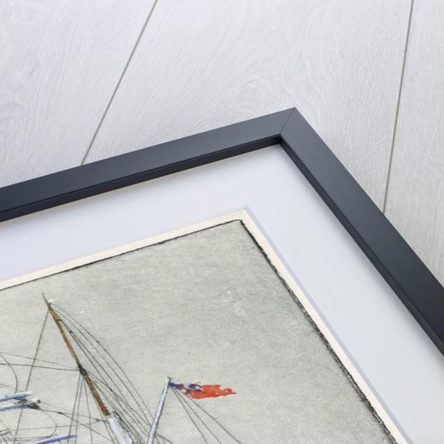 Pinmore square-rigged sailing vessel at sea by Arthur Bradbury