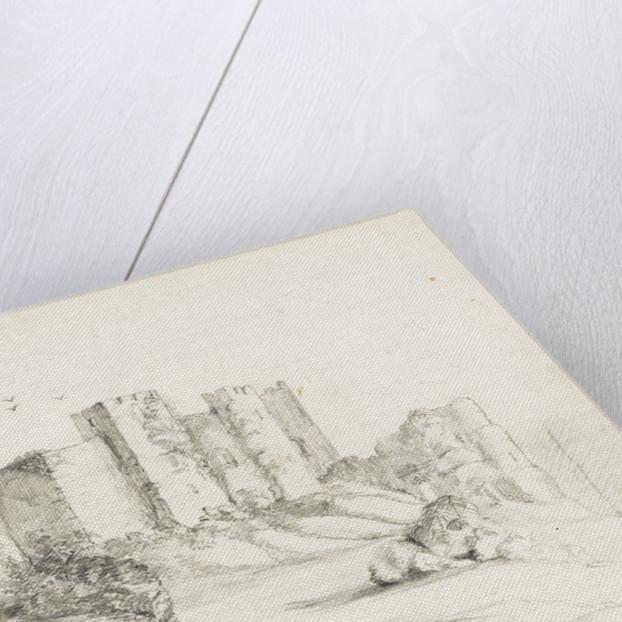 Sketch of Framingham Castle, Suffolk by Margaret Louisa Herschel