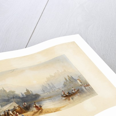 View of river and buildings by unknown