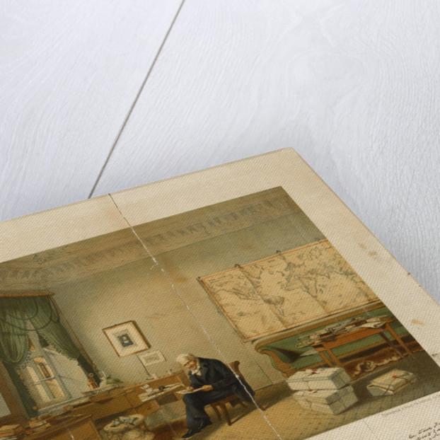 Alexander von Humboldt in his study by E. Hildebrandt
