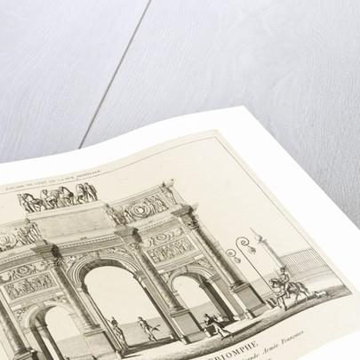View of the Arc de Triomphe du Carrousel, Paris by Charles Francois Leonard Fontaine