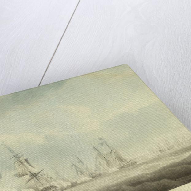 HMS 'Pallas' passing to windward of 'La Minerve' and 'La Lynx', 'Palinure' and 'Sylph' by Nicholas Pocock