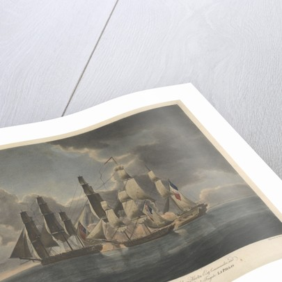 HMS 'Fairy' and 'Harpy' engaging the French frigate 'La Pallas' off St Malo, 6 February 1800 by Francis Chesham