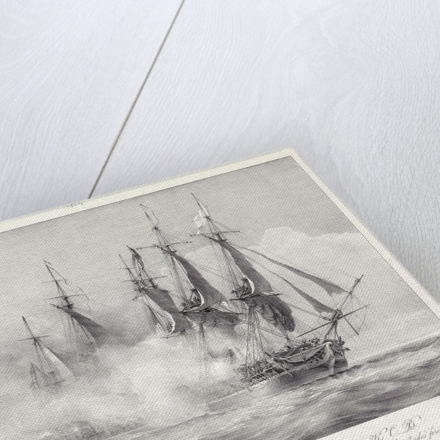 Action between HMS 'Shannon' and the American frigate 'Chesapeake' by Richard King