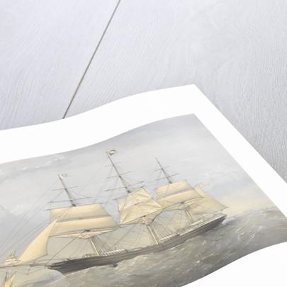 Clipper Ship 'South Australia' (1863) at sea near a coast by Thomas Goldsworth Dutton
