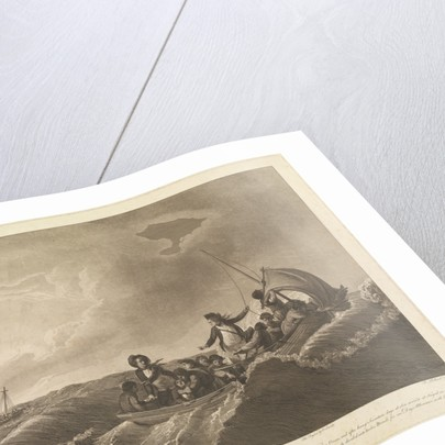 Preservation of Captain Inglefield, the Master, and ten of the crew of the 'Centaur' in the 'Pinnace' on the great Western Ocean, and after seventeen days at sea, arrived at Fayal by Robert Dodd