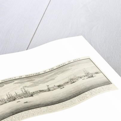 North-west prospect of Deptford by Samuel Buck
