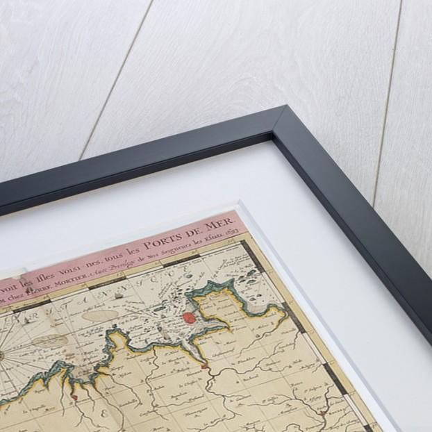 Map of St. Malo, France by Romeyn de Hooghe