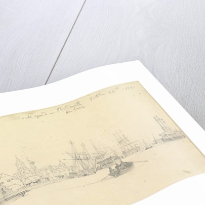 Portsmouth Dockyard, Portsmouth Harbour, 1821 by John Christian Schetky