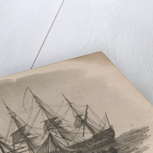 Portraits of two Russian ships by J. Baily