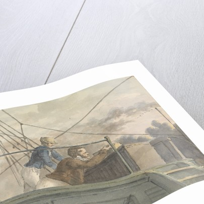 Two sailors on an upper deck, seen from below by Robert Streatfeild