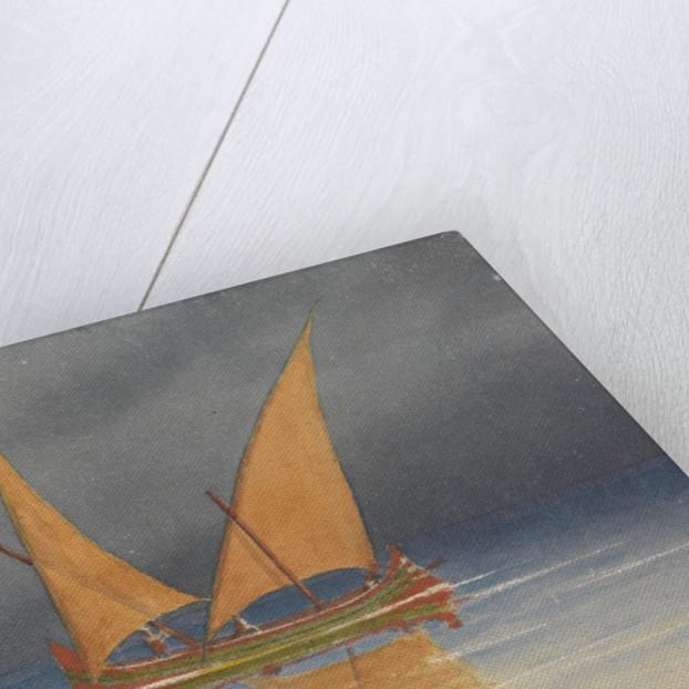 A lateen-rigged Portuguese sailing vessel, Lisbon, 1856 [Portugal] by Edward Gennys Fanshawe