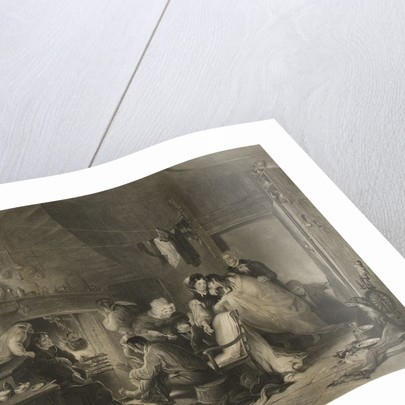 This View of the Interior of Longstone Lighthouse, Fern Islands, Grace Darling and her parents administering to the unfortunate survivors Saved from the wreck of The 'Forfarshire' Steam Packet on the 7th September, 1838... by H.P. Parker