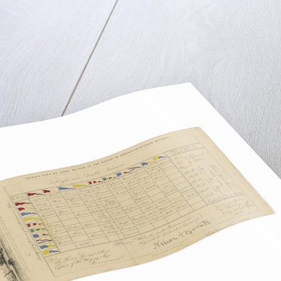 A chart showing signals used by Lord Nelson at the Battle of Trafalgar, 21 October 1805 by Edward William Cooke