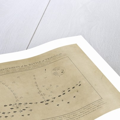 Plan of the Commencement of the Battle of Trafalgar by unknown
