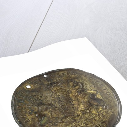 Preserved potatoes lid: relic of Sir John Franklin's last expedition 1845-8 by D. & H. Edwards & Co.