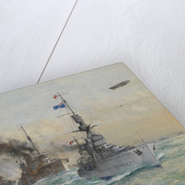 HMS 'Cardiff' leading the German fleet to surrender, 1918 by Charles Dixon