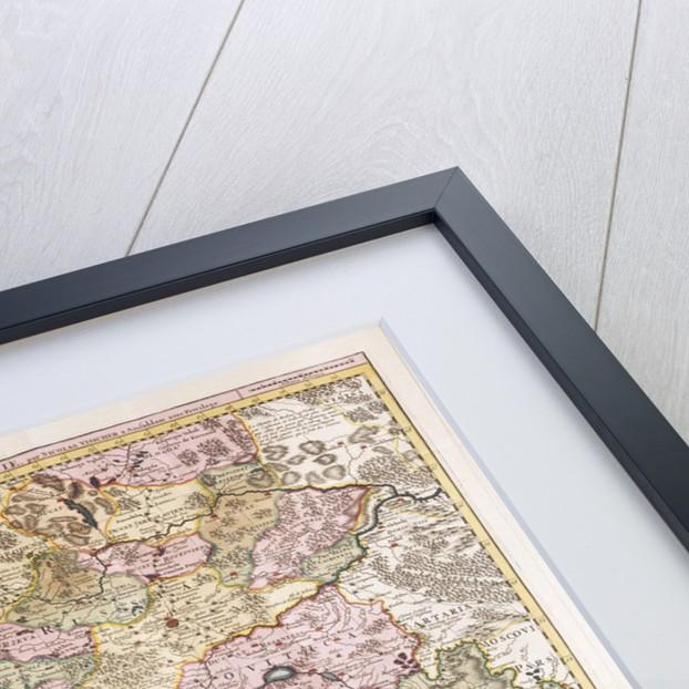 'Carte du Teatre de la Guerre dans la Pologne, Moscovie & Turquie' by Nicolas Visscher by Pieter Schenk