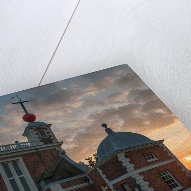 Sunset at the Royal Observatory Greenwich towards courtyard & Flamsteed House by National Maritime Museum