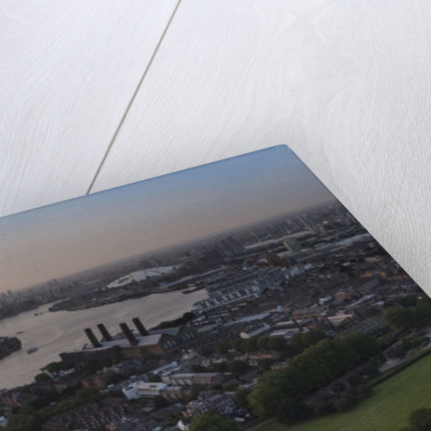 UAV drone photography: National Maritime Museum, Queens House, Cutty Sark, river Thames and City of London by National Maritime Museum