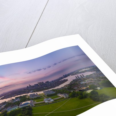 UAV drone photography: panorama of Greenwich by National Maritime Museum