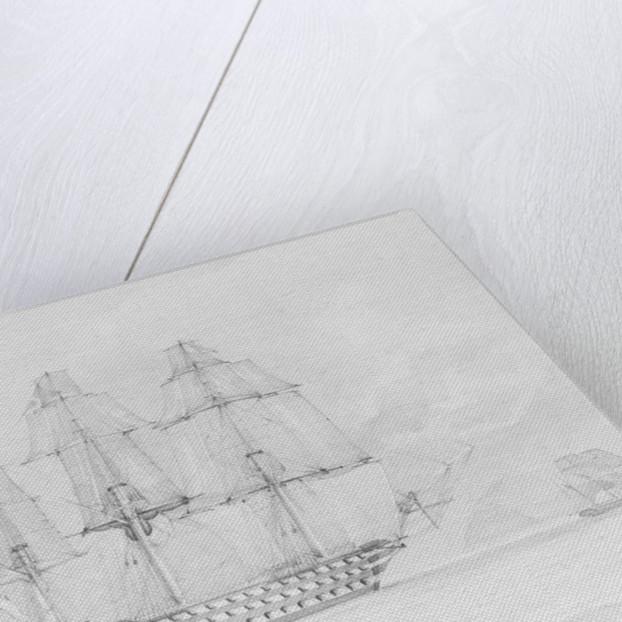 HMS 'Marlborough' off Stromberg by Montagu Frederick O'Reilly