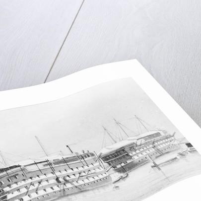 HMS 'Excellent' (?) by W. Mackenzie Thompson