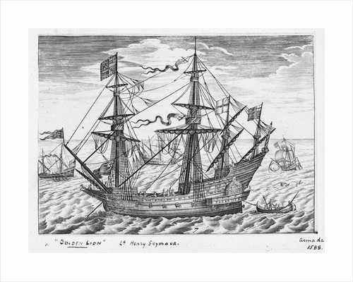 40-gun ship 'Lion' (1557, also known as 'Golden Lion') by Claes Jansz Visscher