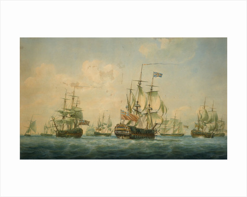 Ships at Spithead 1797 by Nicholas Pocock