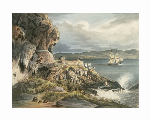 Picturesque views of the Diamond Rock: the 'Centaur' Battery by Joseph Constantine Stadler