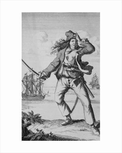 Mary Read, female pirate by F. Wentworth