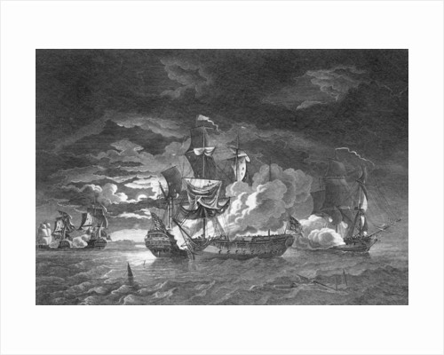 Defence of Captain Pearson in 'Serapis', 23 September 1779 by Robert Dodd