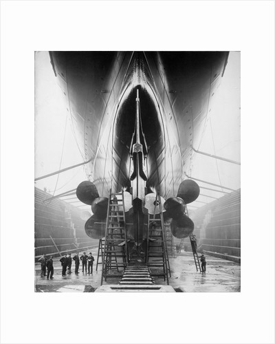 Stern of RMS 'Lusitania' (1906) by unknown
