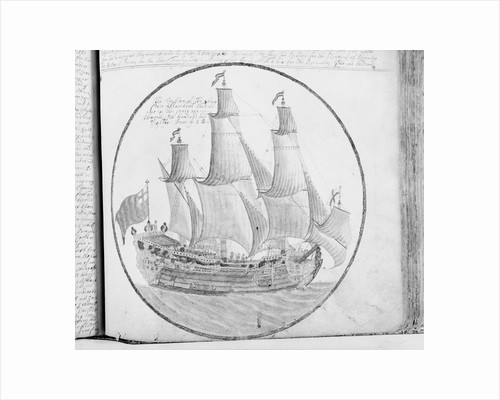 Plate from the journal of Edward Barlow, made 1695-1703 by Edward Barlow