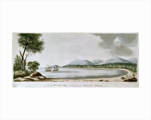 View of Adventure Bay, Van Dieman's Land, New Holland by William Webb Ellis