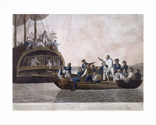 The Mutineers turning Lt William Bligh and part of the officers and crew adrift from HMS 'Bounty', 29 April 1789 by Robert Dodd